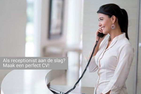 receptioniste cv voorbeeld