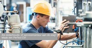 cv voorbeeld onderhouds- of servicemonteur