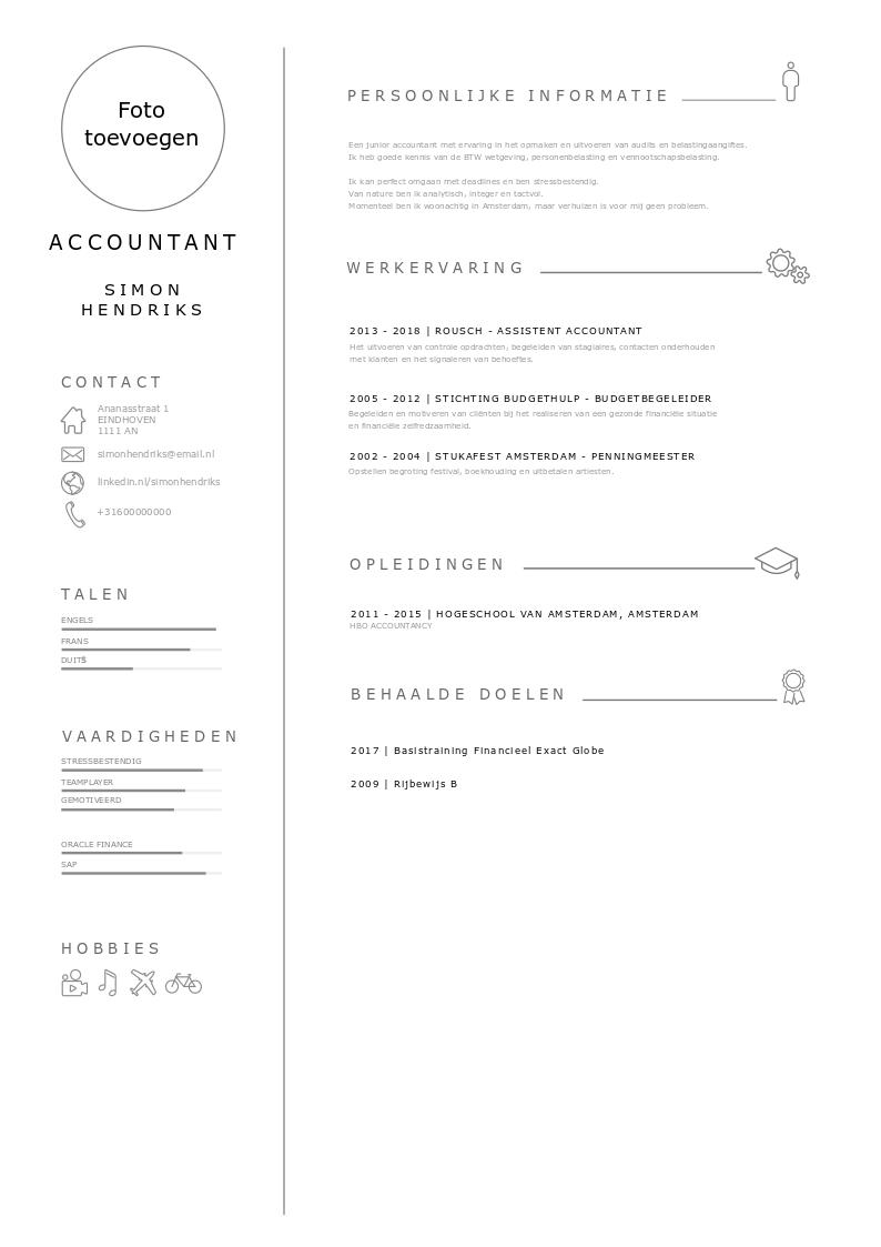 voorbeeld cv accountant
