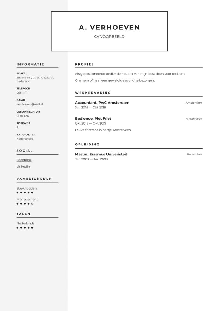 grijs pdf cv