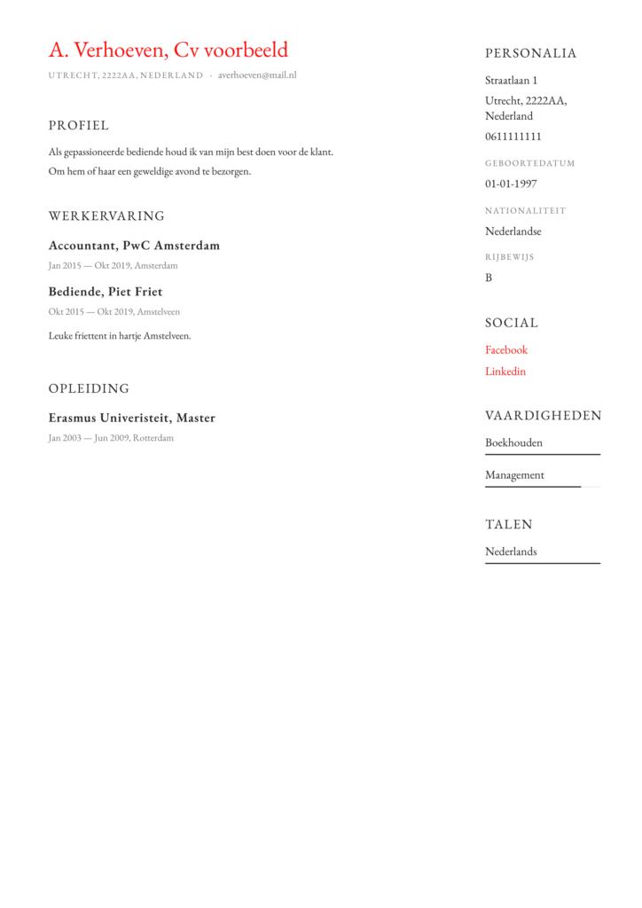 pragmatisch Curriculum vitae pdf