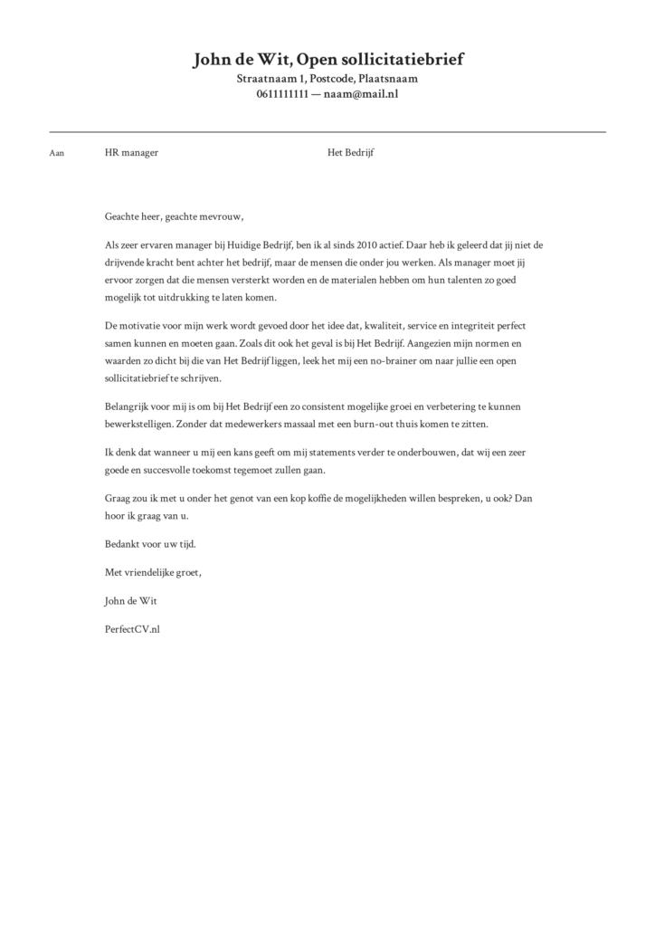 voorbeeld open sollicitatiebrief 1