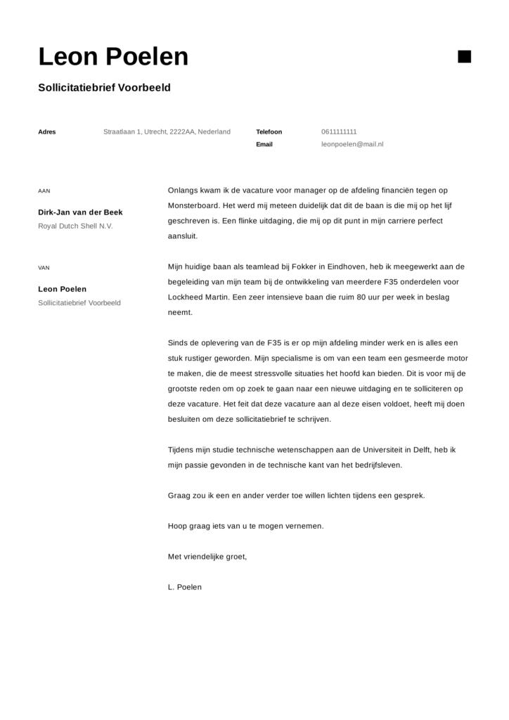 sollictatiebrief voorbeeld 10