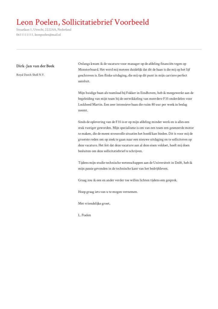sollictatiebrief voorbeeld 4