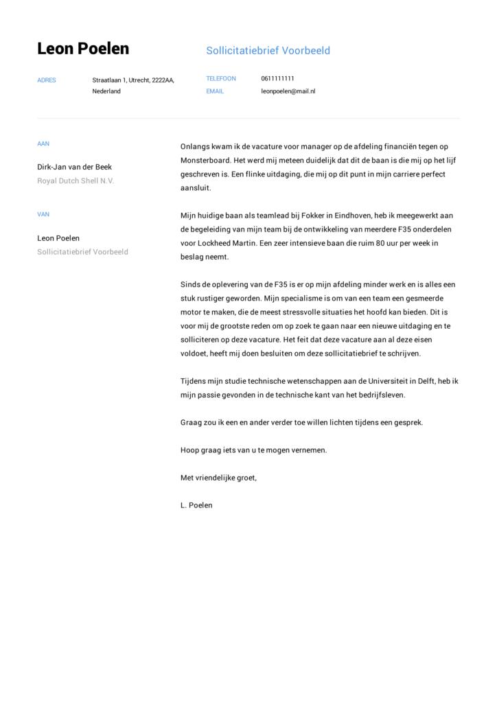 sollictatiebrief voorbeeld 5