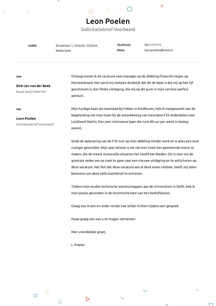 sollictatiebrief voorbeeld 8